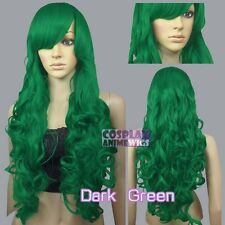 80cm Green Heat Styleable Curly Long Cosplay Wigs 967_011