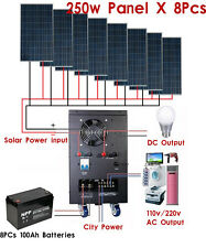 New 5KW Solar Power Generator System for 110v/220v Home Use Shipped By Sea