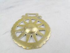 ANTIQUE SUNRAY BRASS HORSE BRASS SHOW DECORATION FOR LEATHER MARTINGALE