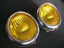 PORSCHE 356 BODY MOUNT FOG LAMP FOGLIGHTS NEBELSCHEINWERFER HASSIA YELLOW - WOW