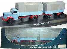 Schuco 03015 Mercedes-Benz L 6600 Planen-LKW mit Anhänger 1/43 NEU & in OVP
