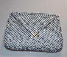 La Regale  Vintage White Aluminum Mesh Evening Bag Purse Handbag Chain