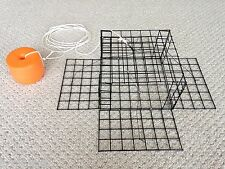 FOUR PACK! PVC BLACK Homemade Four Door Crab Trap RIGGED FLOAT & MAIN LINE