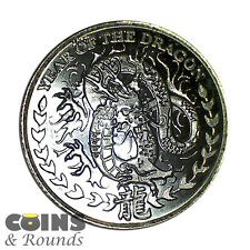2012 1/4 Oz .999 Silver - Republic Of Somaliland Lunar Dragon - 250 Shillings.