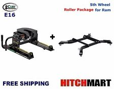 16K CURT 5TH WHEEL TRAILER HITCH w ROLLER & ADAPTER FOR RAM PUCK SYS 16516-16022
