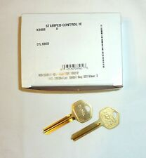 2 Falcon Schlage Cylinder KB608 Interchangeable Core Stamped Control Key Blank