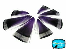 Pheasant Feathers, Purple Golden Pheasant Tippet Feathers - 1 Dozen