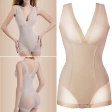 Women Beige Bodysuit bodyShaper Tummy control seamless Shapewear slip size 8-12