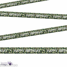 Jungle Army Camouflage Camo Decoration Target Happy Birthday Banner Barrier Tape