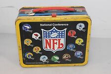 NOS Vintage 1975 NFL Lunch Box with Thermos FREE SHIPPING MUST SEE