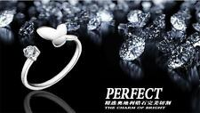 wholesale Jewelry S925 Silver Butterfly Crystal Rings Tail ring Adjustable Size