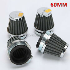 4x Motorcycle Universal 60mm Air Filter Pod For Honda Suzuki Kawasaki Yamaha US