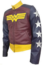 Wonder Women Celebrity Hot Ladies Adrianne Palicki Star Wars Leather Jacket
