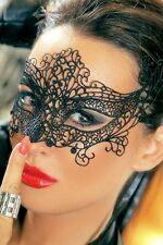 Black Lace Masquerade Mask Angel Wings - Next Day Delivery Metro Australia