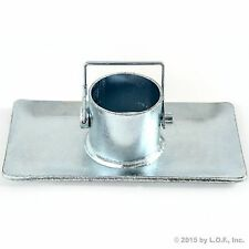 Foot Base Plate for Trailer w/pin A-Frame Jack  Zinc Includes Pin New