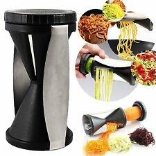 New Spiral Slicer Cutter Kitchen Tool Vegetable Fruit Spiralizer Twister Peel