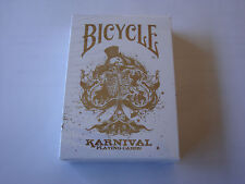 KARNIVAL ORIGINAL IN GOLD LIMITED ED BICYCLE DECK OF PLAYING CARDS MAGIC TRICKS