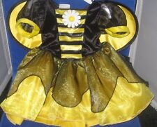 KOALA KIDS INFANT BABY GIRL BEE COSTUME DRESS HEADBAND & WINGS SIZE 3-6 MONTHS