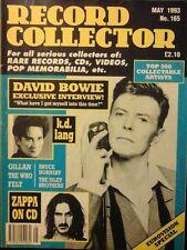 RECORD COLLECTOR MAY 1993 NO.165 DAVID BOWIE K.D LANG FRANK ZAPPA EUROVISION EX