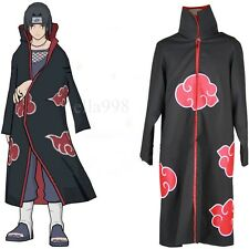 Anime NARUTO Uchiha Itachi Cosplay Costume Akatsuki Ninja Wind Coat Cloak L