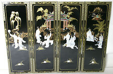Oriental Chinese black lacquer frames wall plaques wall picture gifts
