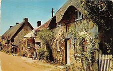 B88126 old thatched cottages brighstone i w uk 14x9cm