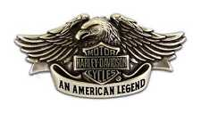 Harley-Davidson Mens Belt Buckle Brushed Chrome American Legend HDMBU10082