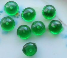 #384 Vintage Glass Cabochons 8mm Buttons NOS Pressed One Hole 1 hole Faceted