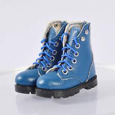 Blue shoes boots for 1/6 custom phicen Kumik UD Female Seamless Flat feet Body