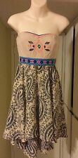 Flying Tomato Ethnic Bohemian Gypsy Hippie Strapless Festival Dress
