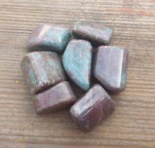 THREE (3) RUBY IN KYANITE TUMBLED STONES MEDIUM/LARGE NATURAL TUMBLE STONES