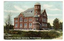 OH - ALLIANCE OHIO 1908 Postcard MT UNION COLLEGE MORGAN GYMNASIUM GYM