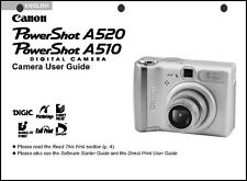 Canon Powershot A510  A520 Digital Camera User Guide Instruction  Manual