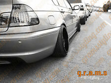 BMW E46 Gloss Side Steps / Side Skirt Extensions Aero, Racing, Performance v4