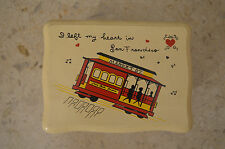 I Left my Hear In San Francisco Wooden Music Box- Light colors with Trolley Cart