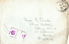 GB JULY 1919 WORLD WAR 1 SOLDIERS POST ENVELOPE FIELD POST OFFICE & CENSOR CAN