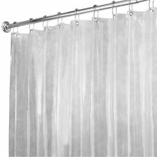 "72"" by 96"" Long Clear Vinyl Shower Curtain Liner Bathroom Anti Mildew Plastic"