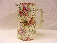 British birds 4 pint pitcher jug by Heron Cross Pottery