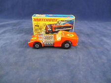 very Rare Matchbox Superfast MB - 19 b Road Dragster in Red with 3 x no.8 Labels