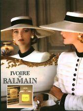 Publicité ancienne Parfum Ivoire de Balmain non parfumé
