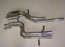 "2000-2002  AUDI B5 S4 2.7t ""TWIN 1"" True 2.5"" SINGLE CATBACK Exhaust t304ss"