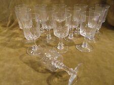 13 Verres à vin 10cl cristal Baccarat Richelieu Champigny crystal wine glasses