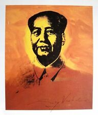 "Andy Warhol, ""MAO TSE TUNG"" Hand signed print in Black pen, with Gallery COA"