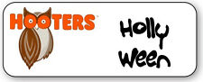 1 NAME BADGE HALLOWEEN COSTUME HOOTERS HOLLY WEEN MAGNET BACK FREE SHIPPING