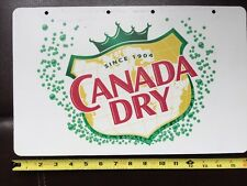 SODA POP CANADA DRY Advertising Sign not Tin or Coke 2 sided
