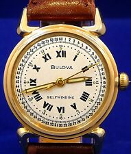 VINTAGE 1954 BULOVA SELFWINDING 24HRS MILITARY LUMINOUS ROMAN DIAL WATCH SERVICE