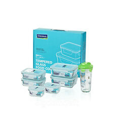 7Pcs Set GlassLock Safety Tempered Glass Taper Food Container Shaker