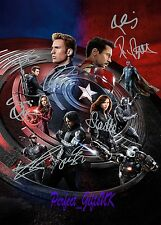 Captain America Civil War Cast 10x8inch Pre-Print Signed Autographed Photo