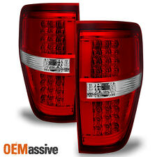2009-2014 Ford F150 Pickup Truck LED Turn Signal Red Clear Tail Lights Lamps