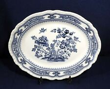 Vintage Antique Mason's Blue Willow China MANCHU Oval Serving Platter 15-5/8""